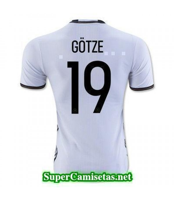 Primera Equipacion Camiseta Alemania GOTZE Eurocopa 2016