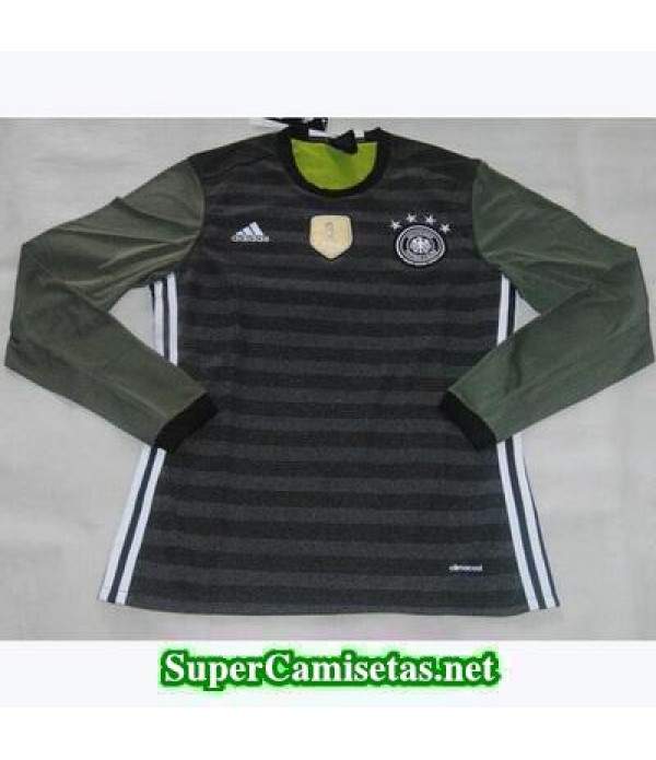 Segunda Equipacion Camiseta Alemania Manga Larga Eurocopa 2016
