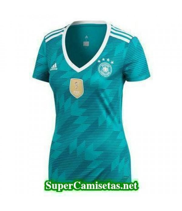 Segunda Equipacion Camiseta Alemania Mujer Copa Mu...