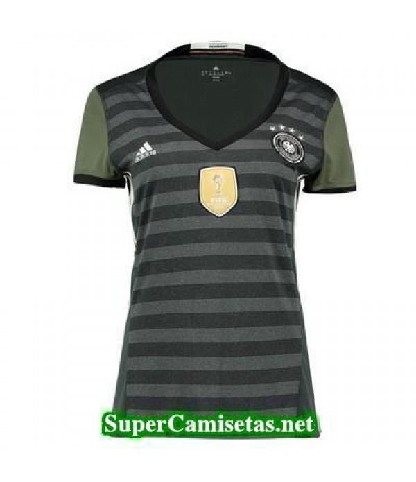Segunda Equipacion Camiseta Alemania Mujer Eurocopa 2016