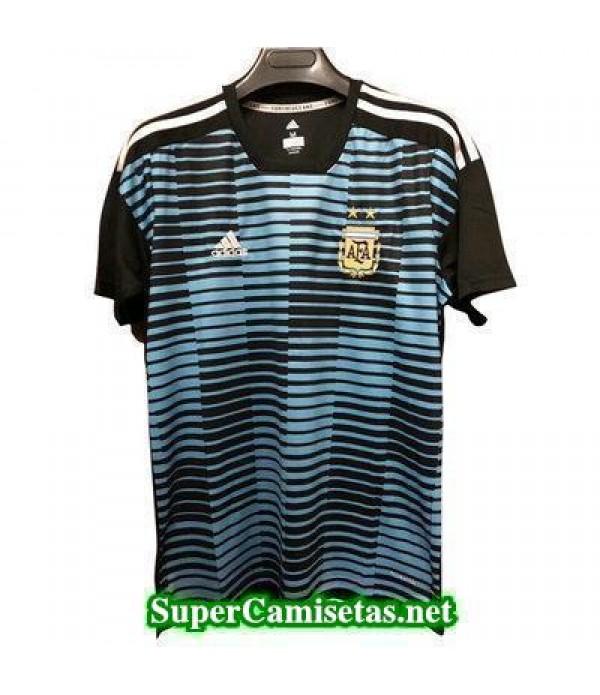 camiseta pre-partido Argentina Azul 2018 2019