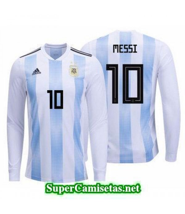 Primera Equipacion Camiseta Argentina ML Messi Copa Mundial 2018