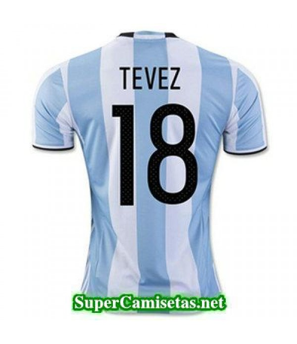 Primera Equipacion Camiseta Argentina TEVEZ Copa A...