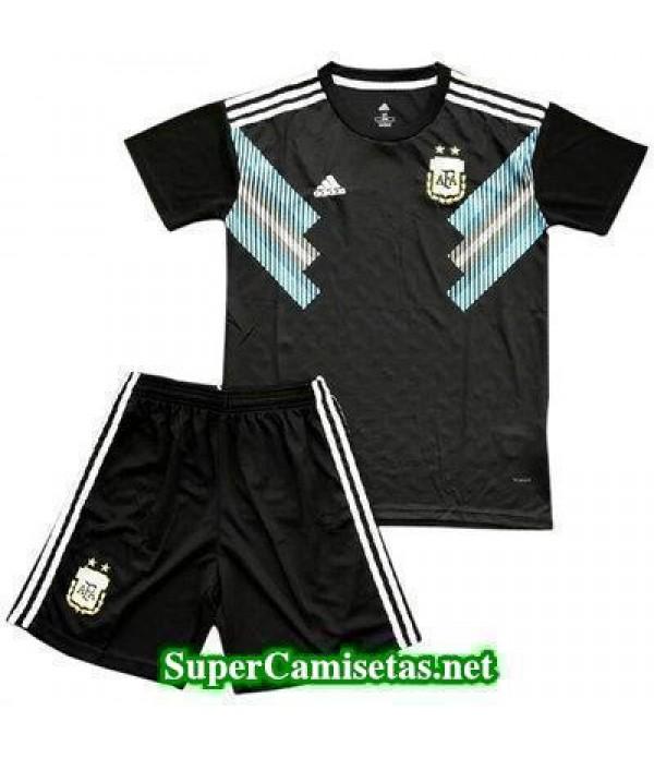 Segunda Equipacion Camiseta Argentina Ninos Copa M...