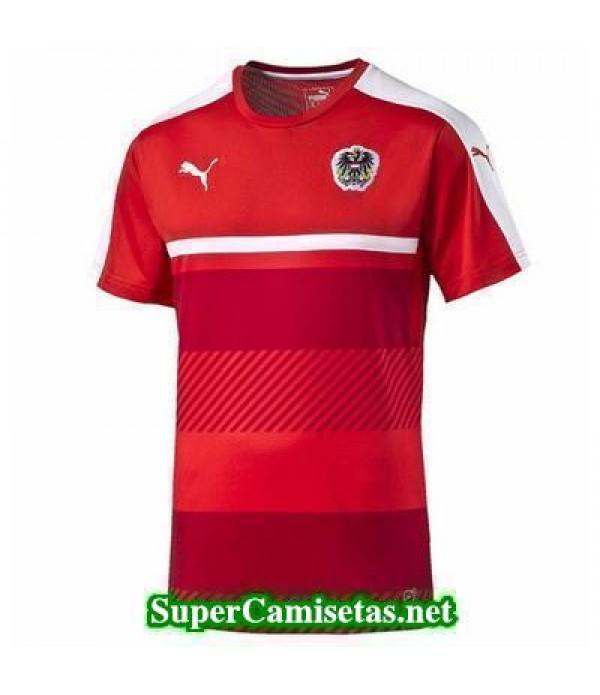camiseta entrenamiento Austria Rojo 2016 2017