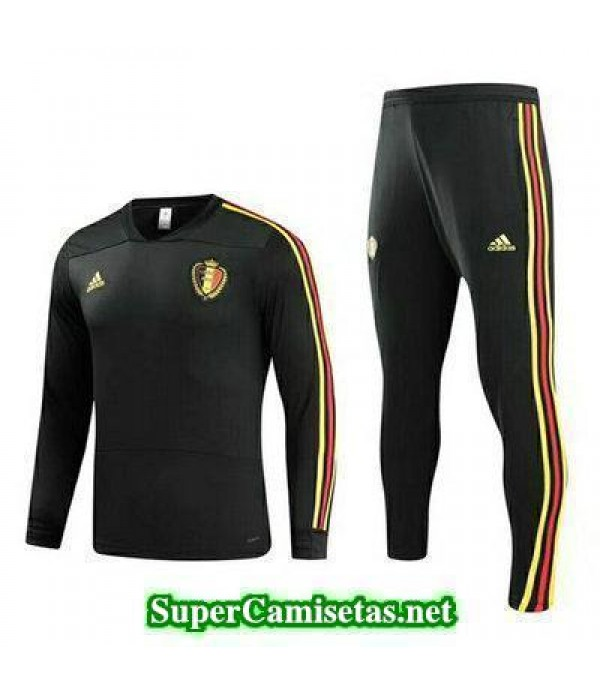 camiseta entrenamiento Belgica ML Negro 2018 2019