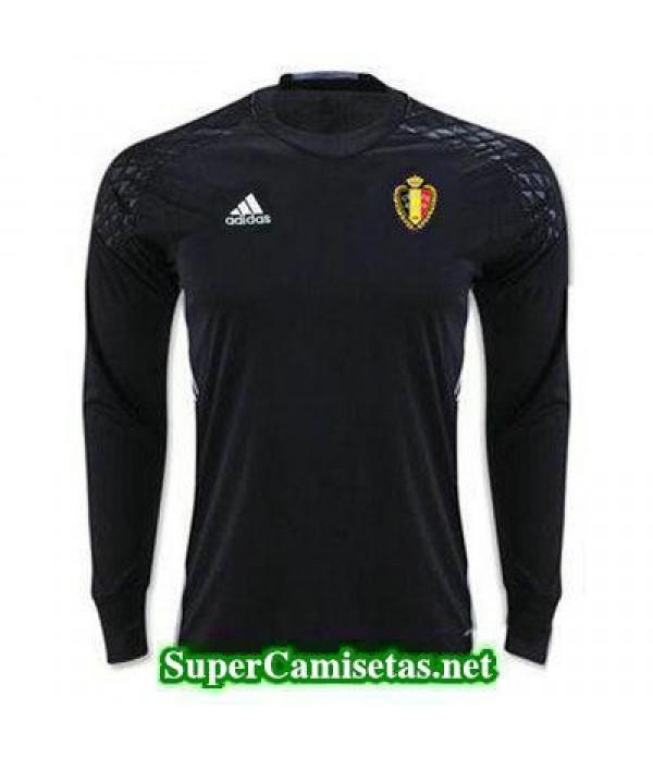 Portero Equipacion Camiseta Belgica ML Negro 2016 2017