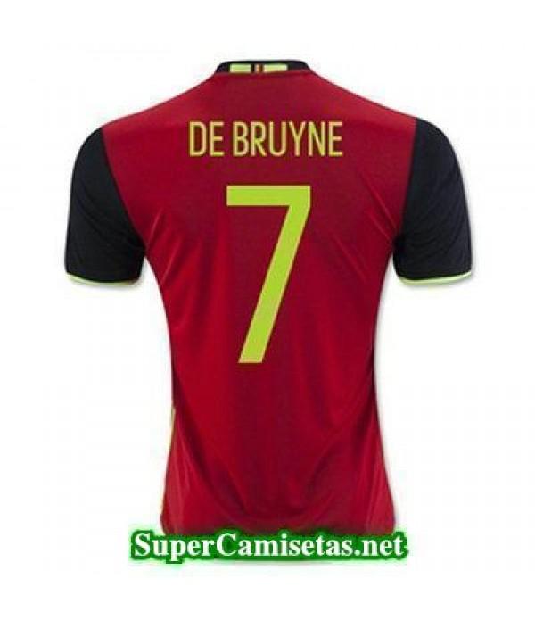 Primera Equipacion Camiseta Belgica DE BRUYNE Eurocopa 2016
