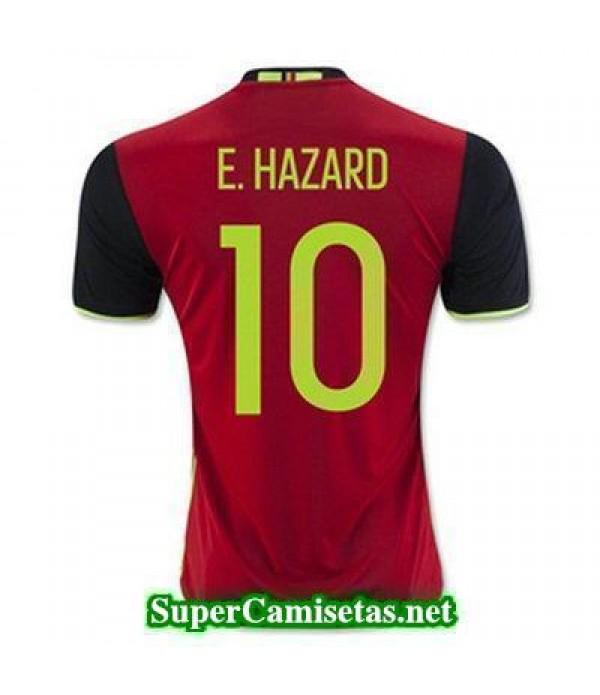 Primera Equipacion Camiseta Belgica E HAZARD Eurocopa 2016