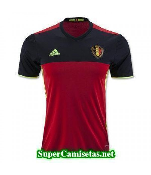 Primera Equipacion Camiseta Belgica Eurocopa 2016