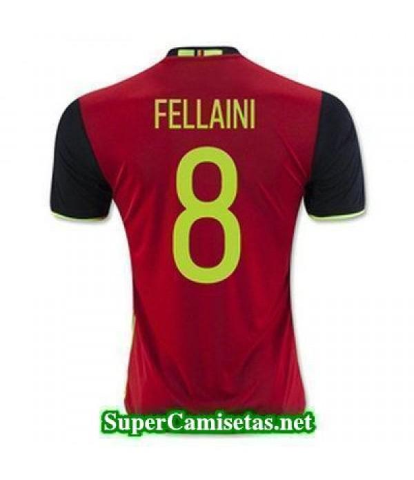 Primera Equipacion Camiseta Belgica FELLAINI Eurocopa 2016