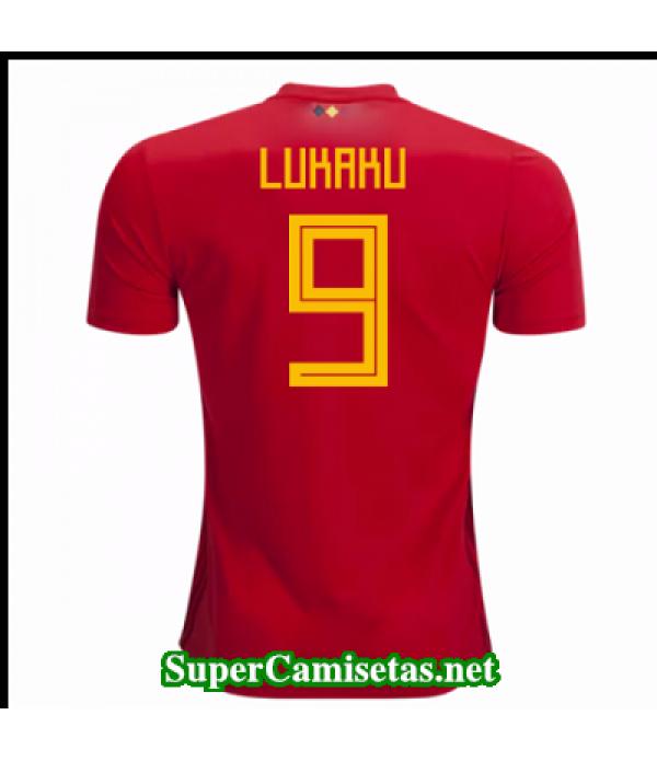 Primera Equipacion Camiseta Belgica Lukaku Copa Mundial 2018