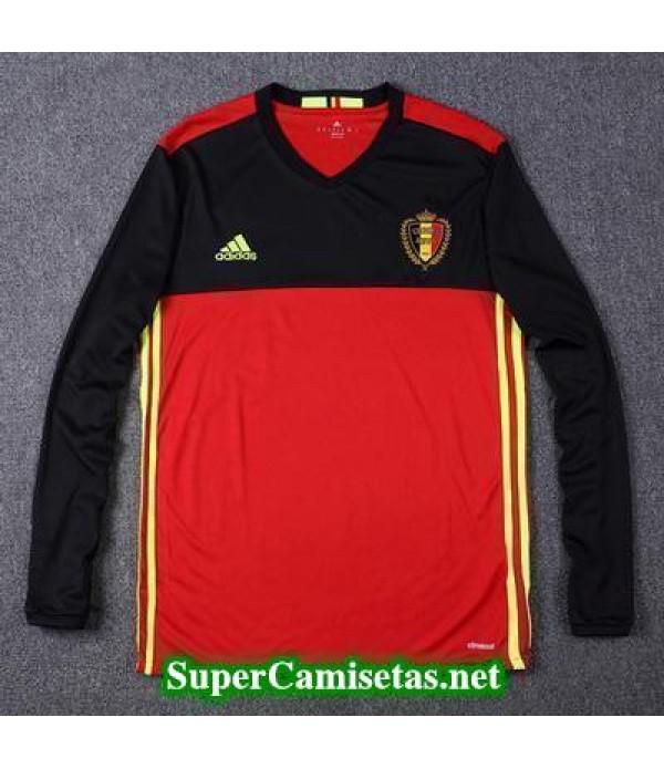 Primera Equipacion Camiseta Belgica Manga Larga Eurocopa 2016