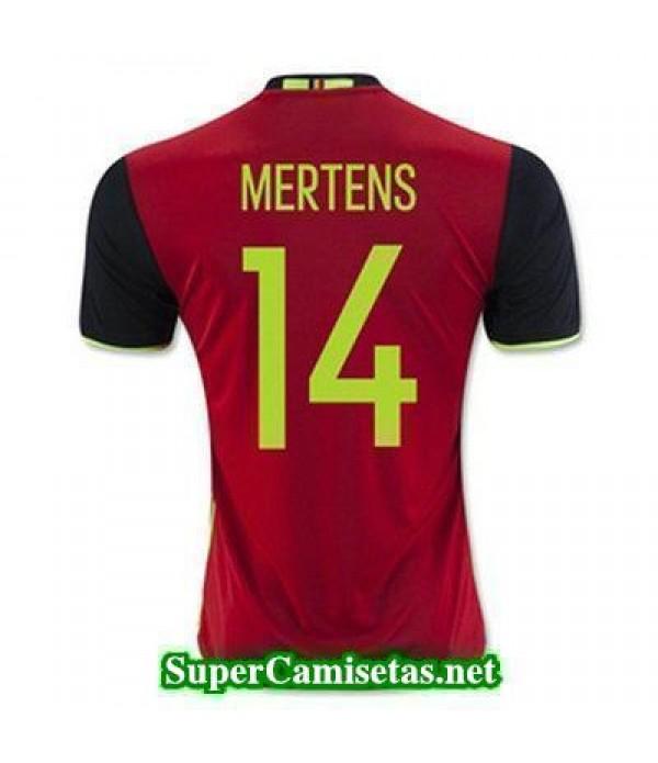 Primera Equipacion Camiseta Belgica MERTENS Eurocopa 2016