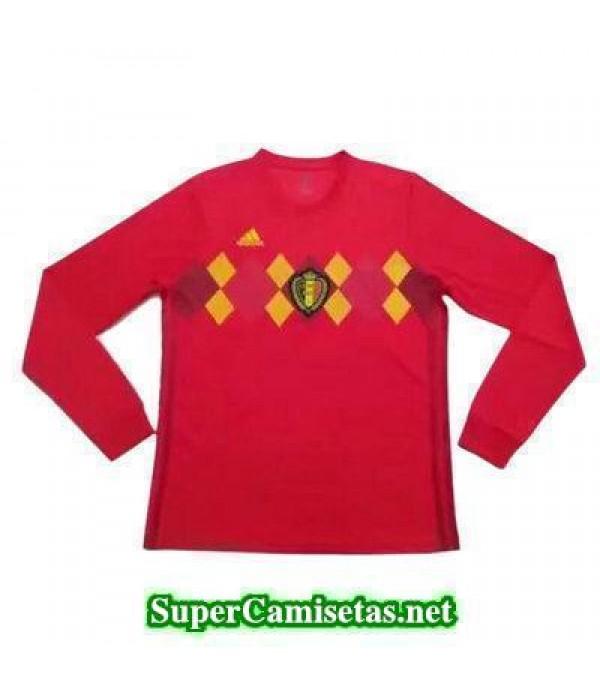 Primera Equipacion Camiseta Belgica ML Copa Mundia...