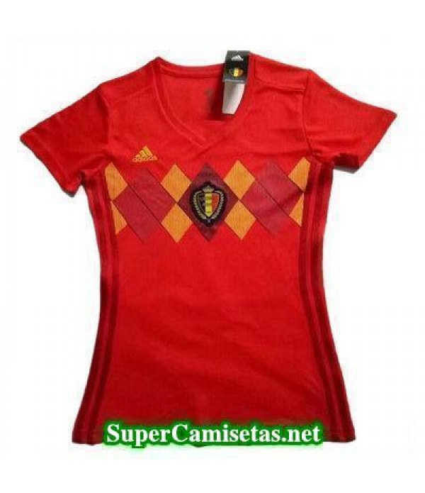 Primera Equipacion Camiseta Belgica Mujer Copa Mun...