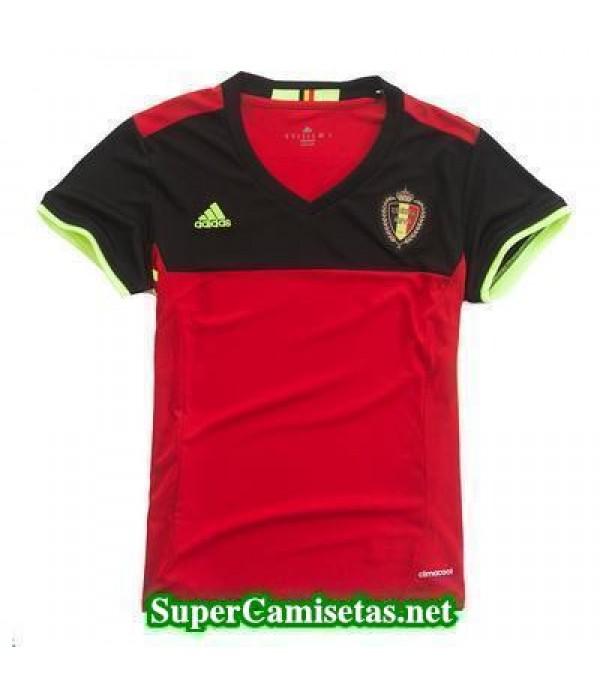Primera Equipacion Camiseta Belgica Mujer Eurocopa 2016