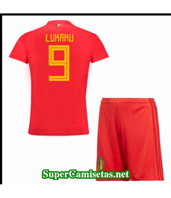 Primera Equipacion Camiseta Belgica Ninos Belgica Copa Mundial 2018