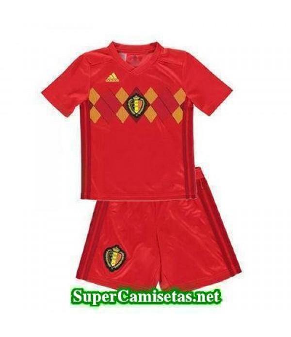 Primera Equipacion Camiseta Belgica Ninos Copa Mun...