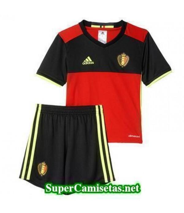 Primera Equipacion Camiseta Belgica Ninos Eurocopa 2016