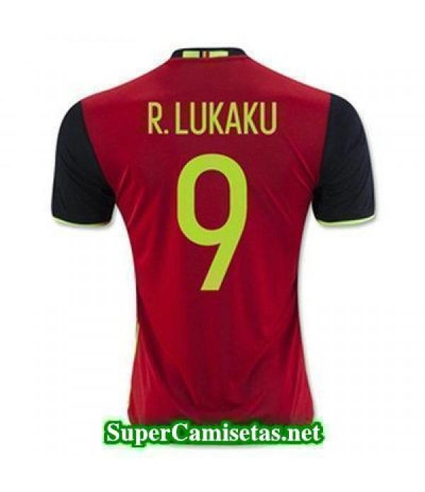 Primera Equipacion Camiseta Belgica R LUKAKU Eurocopa 2016