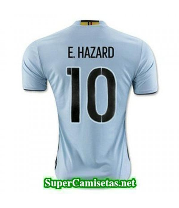 Segunda Equipacion Camiseta Belgica E HAZARD Eurocopa 2016