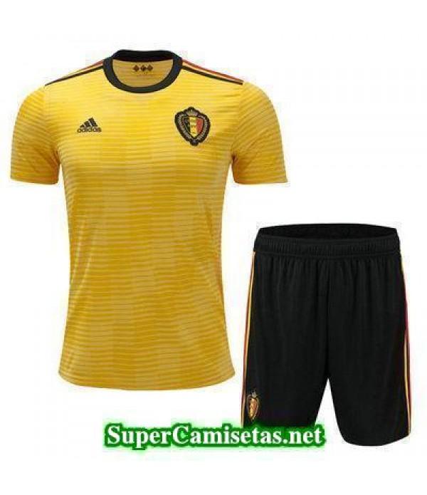 Segunda Equipacion Camiseta Belgica Ninos Copa Mun...