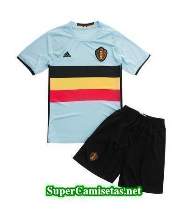 Segunda Equipacion Camiseta Belgica Ninos Eurocopa 2016
