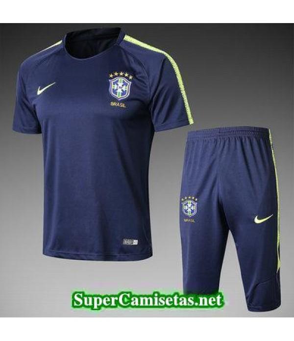 camiseta entrenamiento Brasil Azul oscuro 2018 201...