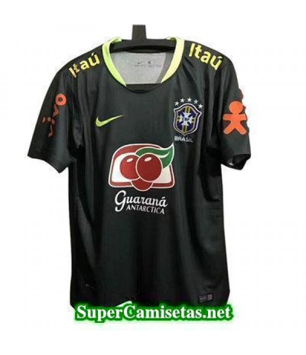 camiseta entrenamiento Brasil negro-01 2017 2018