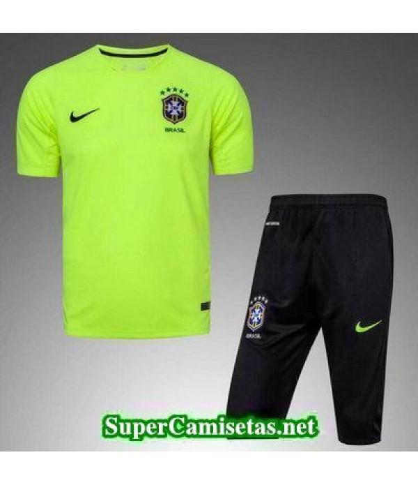 camiseta entrenamiento Brasil verde 2017 2018
