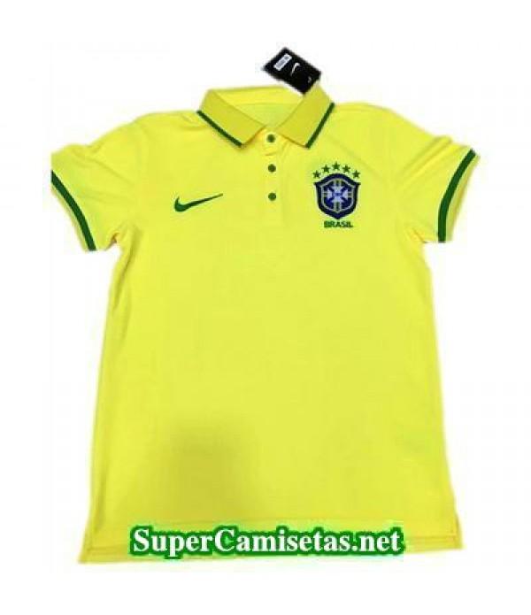 Camiseta polo Brasil Amarillo 2016 2017