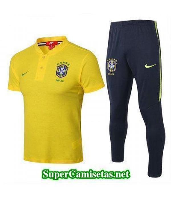 Camiseta polo Brasil Amarillo 2018 2019