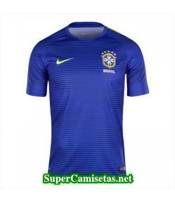camiseta pre-partido Brasil azul 2016 2017