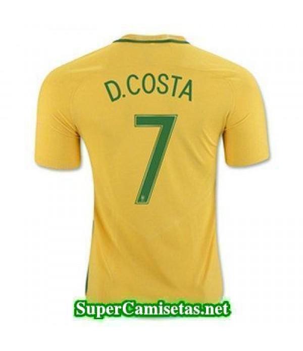 Primera Equipacion Camiseta Brasil D COSTA Copa America 2016