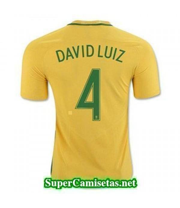 Primera Equipacion Camiseta Brasil DAVID LUIZ Copa America 2016