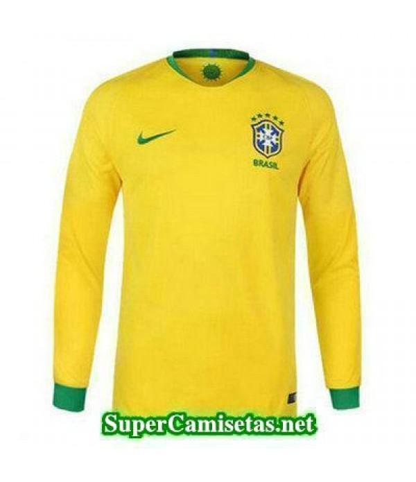 Primera Equipacion Camiseta Brasil ML Copa Mundial 2018