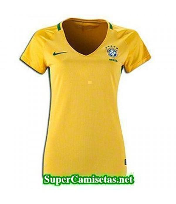 Primera Equipacion Camiseta Brasil Mujer Copa America 2016
