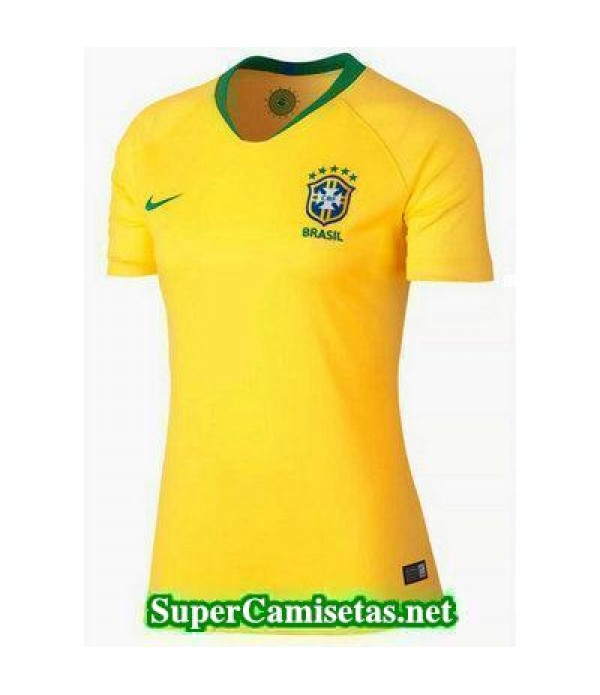 Primera Equipacion Camiseta Brasil Mujer Copa Mund...