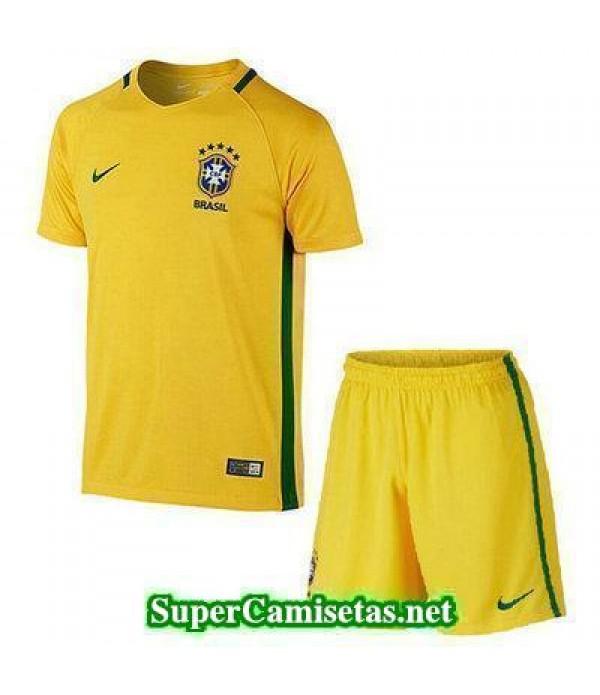 Primera Equipacion Camiseta Brasil Ninos Copa America 2016