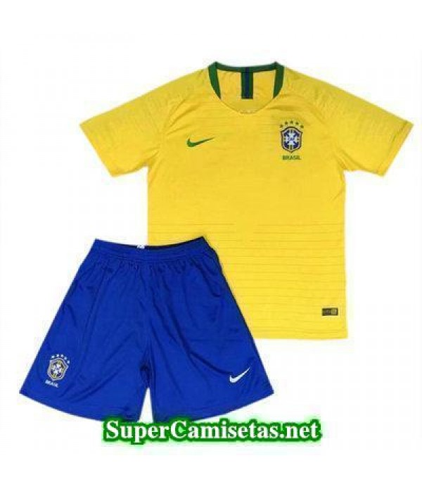 Primera Equipacion Camiseta Brasil Ninos Copa Mund...