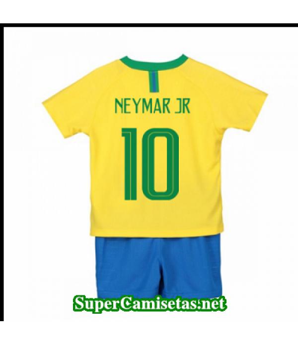 Primera Equipacion Camiseta Brasil Ninos Neymar jr Copa Mundial 2018