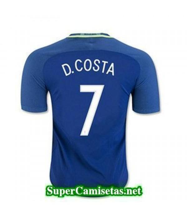 Segunda Equipacion Camiseta Brasil D COSTA Copa America 2016