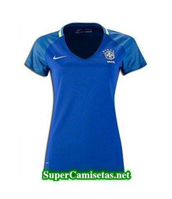 Segunda Equipacion Camiseta Brasil Mujer Copa America 2016
