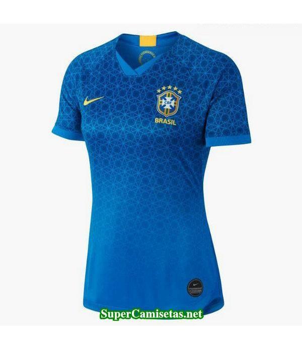Segunda Equipacion Camiseta Brasil Mujer Copa Mundial 2019