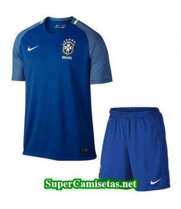 Segunda Equipacion Camiseta Brasil Ninos Copa America 2016