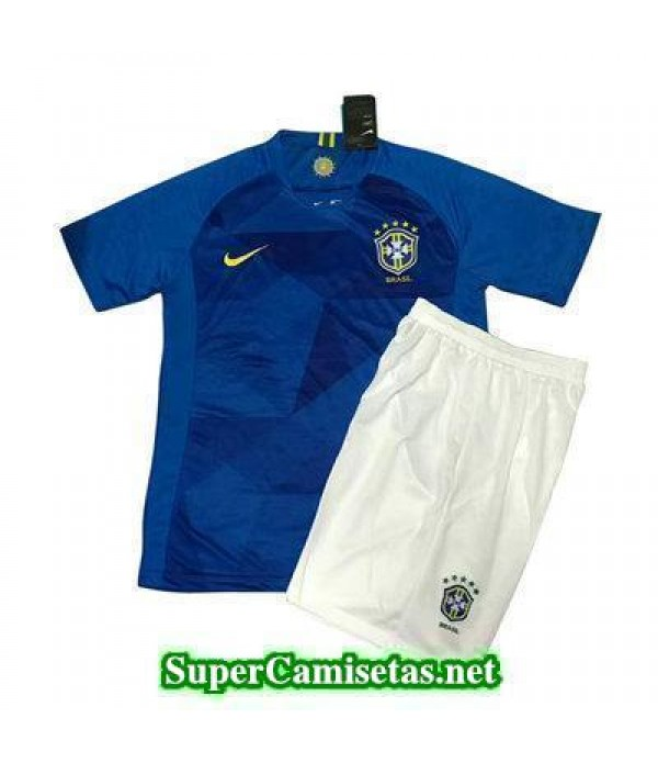 Segunda Equipacion Camiseta Brasil Ninos Copa Mund...
