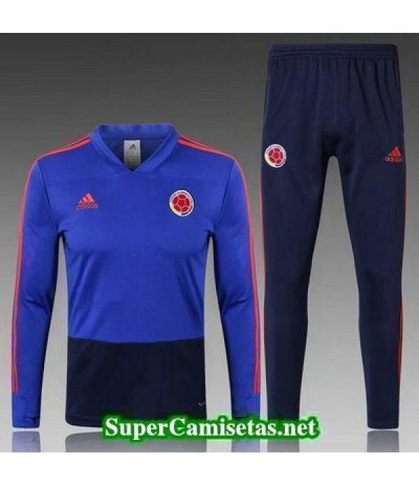 camiseta entrenamiento Colombia ML Azul 2018 2019