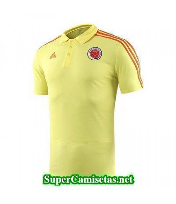 Camiseta polo Colombia Amarillo 2018 2019