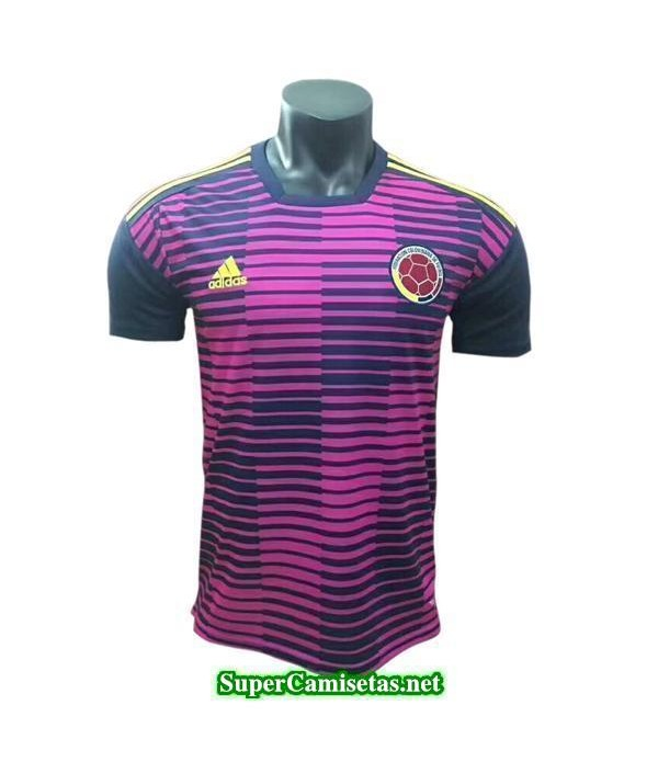 camiseta pre-partido Colombia Rojo 2018 2019